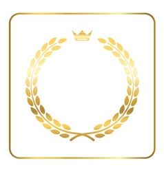 Gold laurel wreath crown golden vector