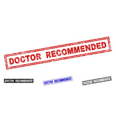grunge doctor recommended textured rectangle vector image