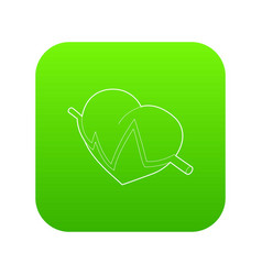 heart beat pulse icon outline style vector image