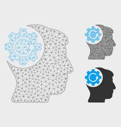 Intellect gear rotation mesh network model vector