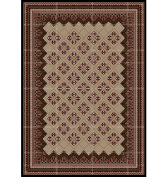 Motley ornaments in brown and red shades for rug vector