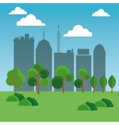 Nature city design vector