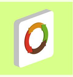 organic arrow computer symbol vector image