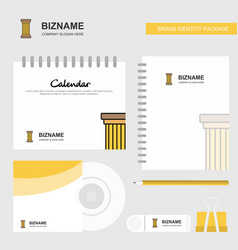 piller logo calendar template cd cover diary and vector image