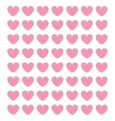 pink cartoon heart pattern vector image