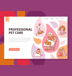 Professional pet care vector