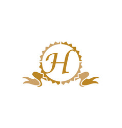 Quality letter h vector