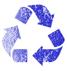 recycle grunge textured icon vector image