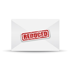 reduced white closed envelope vector image