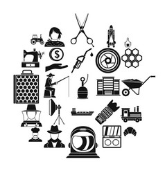 repair service icons set simple style vector image