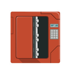 safe metal opened box safety box cash secure vector image