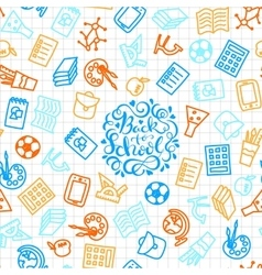 School seamless background vector image