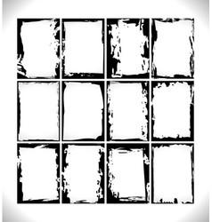 set design grunge frames vector image