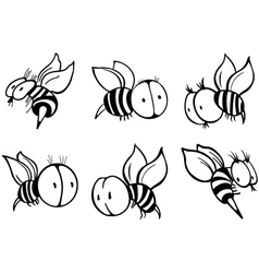 Set of bee vector