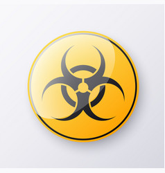sign caution virus isolated on transparent vector image
