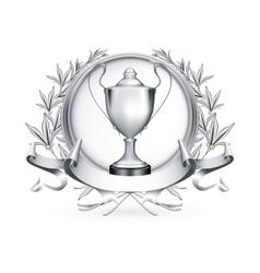 Silver Emblem vector image