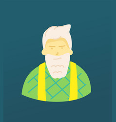 Sketchy style artistic character old man with the vector