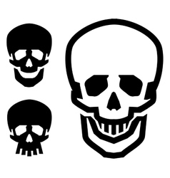 Skull logo design template pirate or vector
