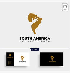 South africa charity logo template icon element vector