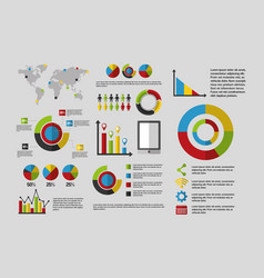 statistics data business vector image