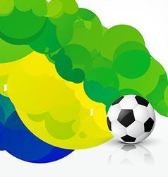 Stylish soccer design vector
