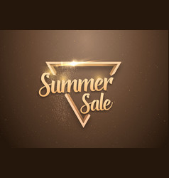 summer sale banner lettering template vector image