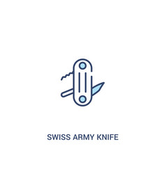 Swiss army knife concept 2 colored icon simple vector