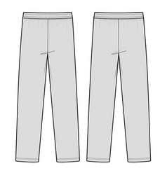 track pants fashion flat sketch template vector image