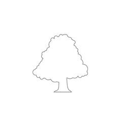 tree flat icon vector image