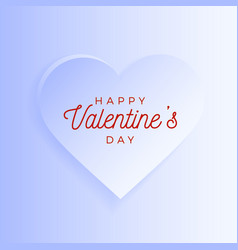 valentine day abstract background with white cut vector image