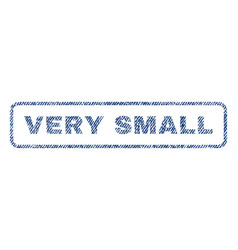 Very small textile stamp vector