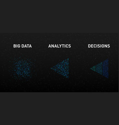 visualization big data analytics process vector image
