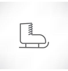 White skate vector image