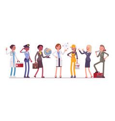 women professions set vector image