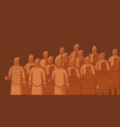 Xian warriors ancient chinese terracotta army vector