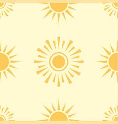 Yellow sun planet seamless pattern background star vector