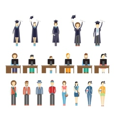 Young people and students vector