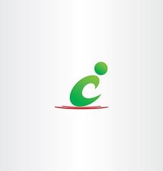 green man letter c icon c logo symbol vector image