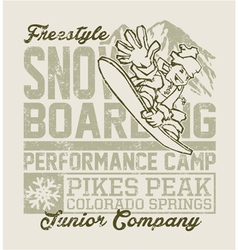 Snowboard Camp vector image vector image