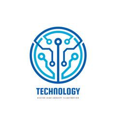 technology - logo template vector image vector image