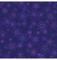 abstract flowers floral violet seamless background vector image vector image