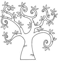 Cartoon tree vector image vector image