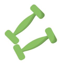dumbbells weight gym design vector image