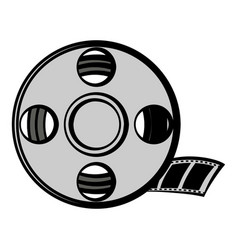 film reel icon cartoon vector image
