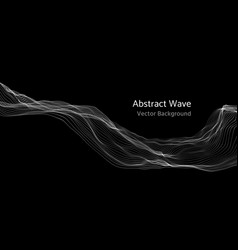mesh network 3d abstract wave and particles vector image