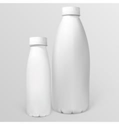plastic bottles vector image