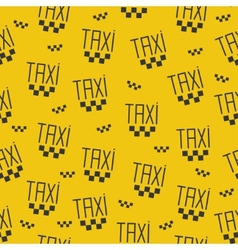 Seamless pattern of taxi sign vector image