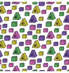 seamless pattern with colorful shapes vector image