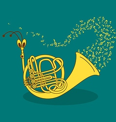 with snail trumpet vector image