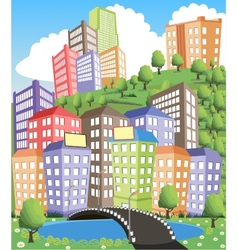 City view vector image vector image
